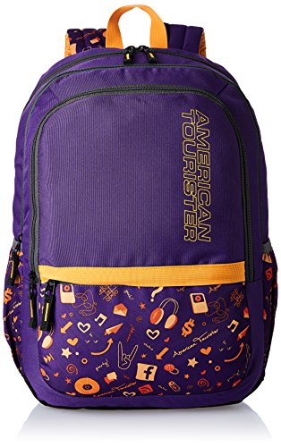 American Tourister Hashtag Purple Casual Backpack (Hashtag 03_8901836130843)