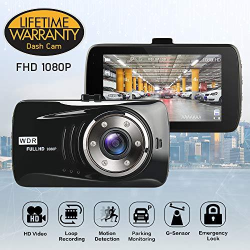 Dash Cam, Segels Telecamera per Auto Dash Cam per Auto Camera Car 1080P con Infrarossi Visione Notturna, 140 Gradi, Rilevazione di Movimento, Registrazione in Loop, WDR,G-Sensor e 3' Schermo LCD