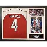 Allstarsignings Patrick Vieira - Maglietta da Calcio autografata e incorniciata, 80x60cm