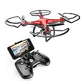 Goolsky Dongmingtuo X8 Drone Wifi FPV 2.4G Droni telecamera 720P RC Quadcopter Altitude Hold APP Controllo 3D Flip Headless Mode (ROSSO)