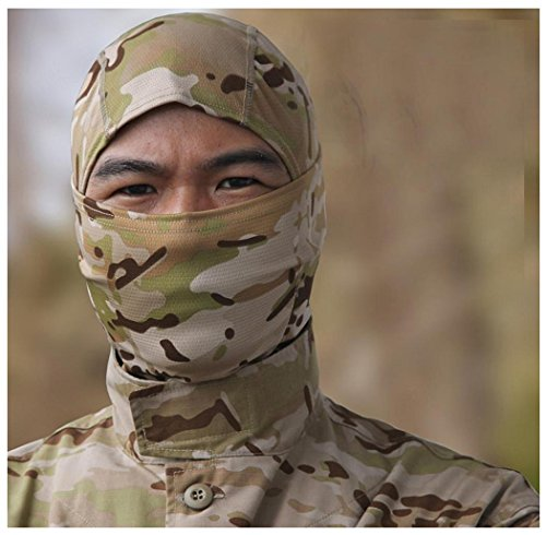 Amcool Radfahren Motorrad Cap Balaclava Hüte Full Face Maske Kopfbedeckung Camouflage (Kostüm Fee Wind)