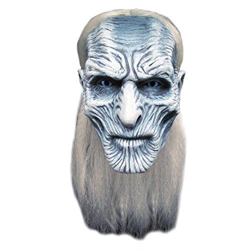 Générique - Mahal797 - Masque Latex Adulte Blanc Walker - Game Of Thrones - Taille Unique, Vetements