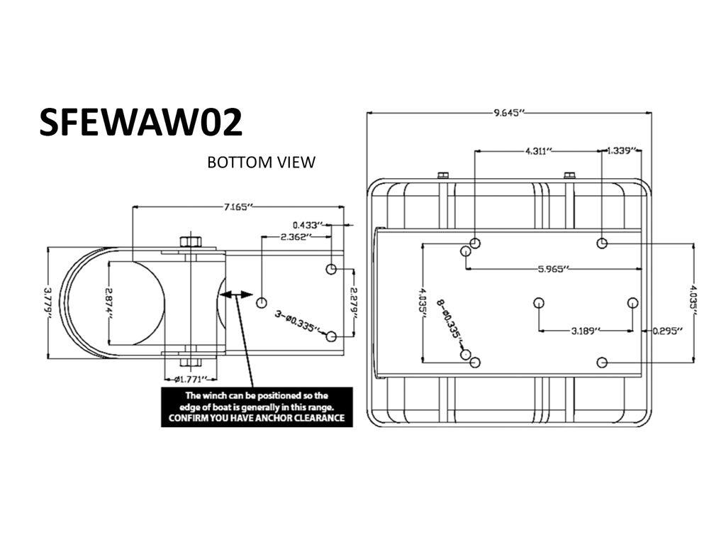 12V 30LB Heavy Duty Electric Anchor Winch 2