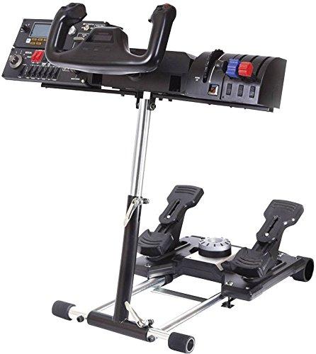 Wheel Stand Pro Deluxe V2 Halterung, schwarz, Für Saitek Pro Flight Yoke System (Flight Simulator Deluxe)