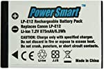 Power Smart 875mah, Replacement for Canon Lp-E12 Rechargeable Li-ion Battery