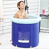 Inflatable Bath Home Faltende Badewanne Erwachsene Badewanne Haushalt Aufblasbare Badewanne Dicke Kunststoffwanne Ganzkörper Faltwanne (Farbe: Blau, Größe: 65 * 65cm)