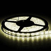 BOBINA STRISCIA 300 LED 5050 5 METRI 5M 12V LUCE BIANCO CALDO CASA STRIP POWER striscia5050calda