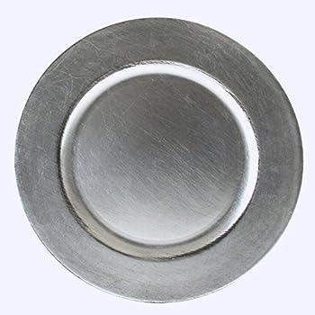 Platzteller Deko teller Event Teller Unterteller Silber - Farbend Kunststoff 33cm