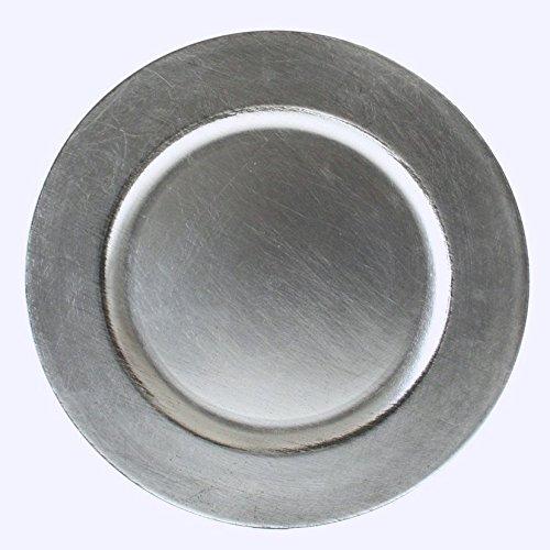 ler Event Teller Unterteller Silber - Farbend Kunststoff 33cm (Silber-kunststoff-teller)