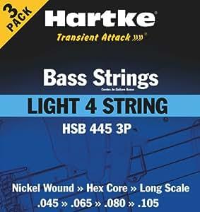 Hartke HSB4453P Light 4-ST Pack de 3 Jeux de cordes basse