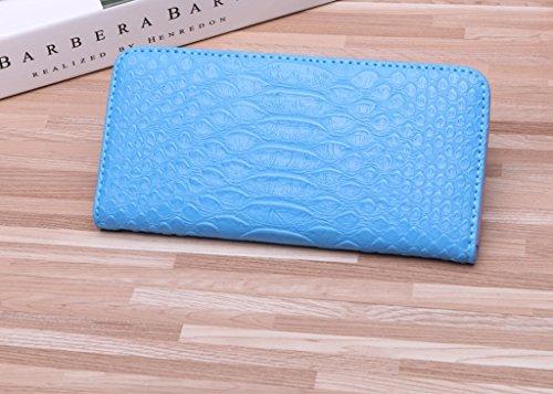 Sacchetto della carta piegata signore borsa femminile Lungo Tratto Di Piccolo dolce studenti Hasp Portafoglio carta del pacchetto ( colore : Blu ) Blu