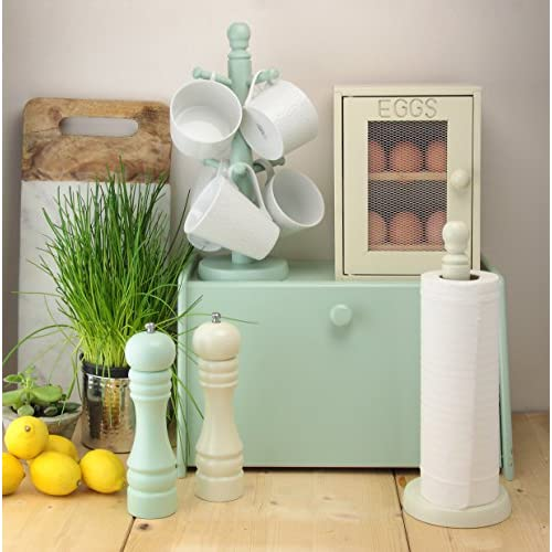Apollo Wood Drop Front Mint Green Bread Bin,