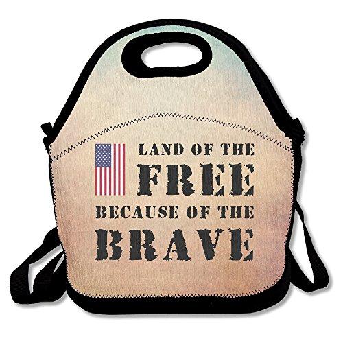 Duo Rio Mi Land der Freien USA Flagge Lunchtasche Verstellbarer Gurt -