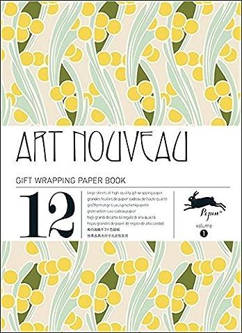 Art nouveau, Volume 1. Grandes feuilles de papier cadeau de