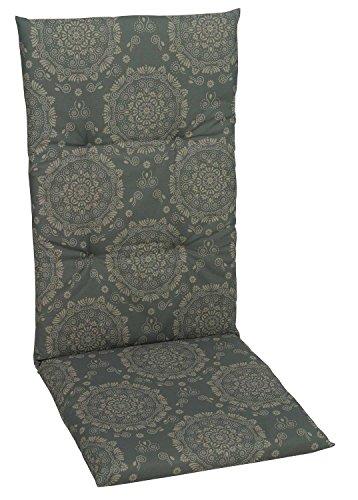 Sesselauflage Sitzpolster Gartenstuhlauflage für Hochlehner ANDORA 1 | B 50 cm x L 118 cm | Taupe |...