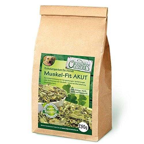 Original-Leckerlies: Muskel-Fit AKUT Kräutermix, 250g Hundekräuter, Kräuter für Hunde, Hundefutter - Naturprodukt für Hunde, barfen