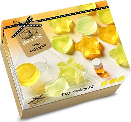 House Of Crafts Soap Making Starter Craft Kit Lemon Scented Gift Set
