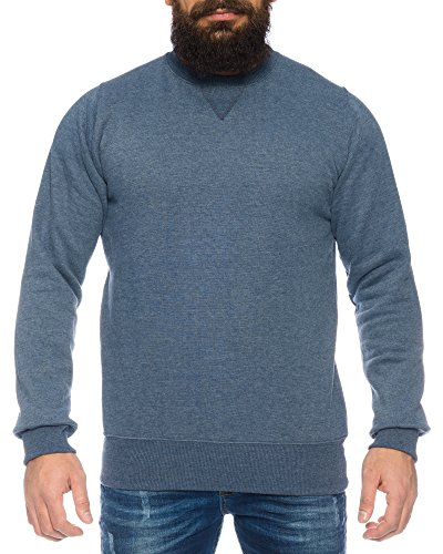 Raff&Taff Herren Sweatshirt inkl. Übergröße bis 8XL - mehrere Farben ID564, Farbe:Blau, Größe:7XL