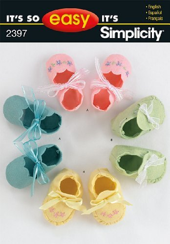 Simplicity Sewing Pattern 2397 It's So Easy Baby Booties, One Size by Simplicity Creative Group, Inc
