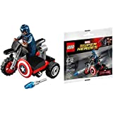 LEGO MAVEL SUPER HEROES - 30447 - CAPTAIN AMERICA MOTORCYCLE Collector POLYBAG