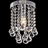 #10: LEDMOMO Crystal Chandelier Modern Pendant Flush Mount Ceiling Light E14 Head 150 Balls Suitable for Hallway, Living Room, Dining Room(Without Bulb)