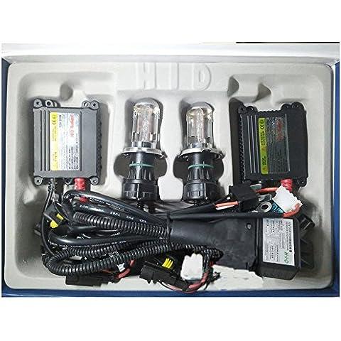 Meijunter AC 55W Slim Ballast HID BI-Xenon Light Headlight Bulbs Lamp H4 Slim Ballast HID Bi-Xenon faro della luce della lampada delle lampadine Conversion Kit 6000K