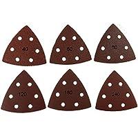 60 pieza triángulos de lija con velcro 93 x 93 x 93 mm, grano 10