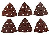 60pezzi in velcro di rettifica tre angolo 93X 93X 93mm Grana da 10X 40/60/80/120/180/240per levigatrici a delta 6foro