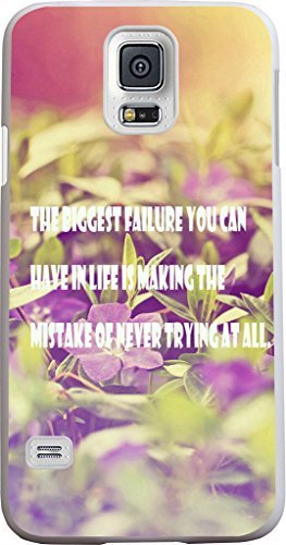 S5 Case Inspirational Quotes,Case for Samsung Galaxy S5 Quotes About Life From Songs The biggest failure you can have in life is making the mistake of never trying at all sale on ZENG Case