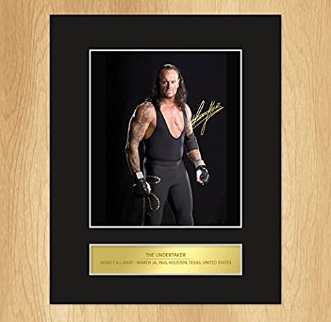 The Undertaker Signed Mounted Photo Display by My Prints