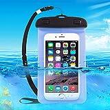 TheSmartGuard Wasserdichte Handyhülle , Hülle, Tasche, Staubdichte Schutzhülle für iPhone 7 (Plus) / 6 & 6s (Plus) / 5s / SE / 5, Galaxy S7 / S7 Edge / S6 und viele weitere Modelle bis zu 6 Zoll in blau -