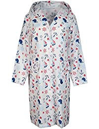 Regen-Jacke von Zwillingsherz im maritimen Design für Damen Herren Mädchen Jungen - perfekter Regenponcho für jedes Wetter - Wasserdicht und leicht zu verstauen / Mantel / Cape / Windbreaker