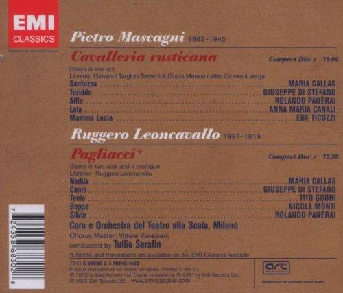 Paillasse (Pagliacci) (Intégral), Cavalleria Rusticana (Intégral)