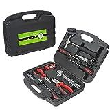 Finether 21-teilig Haushalts-Werkzeugkoffer Werkzeug-Set Handwerkzeug-Set Präzisions-Kit für die Gartenarbeit Elektriker | Handwerkzeuge steckschlüsselsatz Schraubenzieher mit werkzeugbox