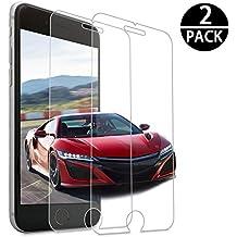 Verre Trempé pour iPhone 8/7/6/6S,[2 Pièces] Genki Ultra Clear Extreme Résistant Protection écran Film Protection pour iPhone 8/7/6/6S