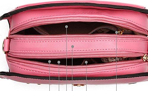 Keshi Pu Niedlich Damen Handtaschen, Hobo-Bags, Schultertaschen, Beutel, Beuteltaschen, Trend-Bags, Velours, Veloursleder, Wildleder, Tasche Rosa