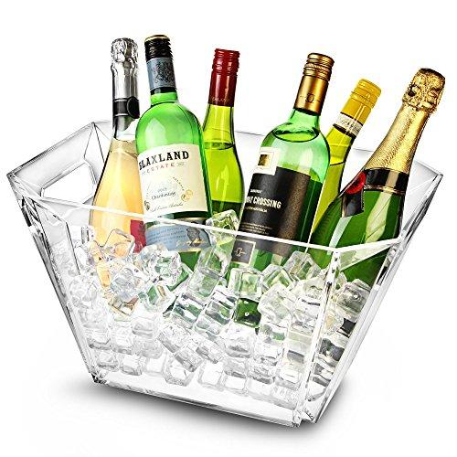 Gletscher Acryl Geometrische Wein Eimer-Sektkübel, Weinkühler, Sektkühler