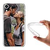APRIL - Funda Personalizada iPhone 5 5S 6 Plus 6S Plus 7 8 X con la Foto y el Texto Que Quieras (iPhone XR)
