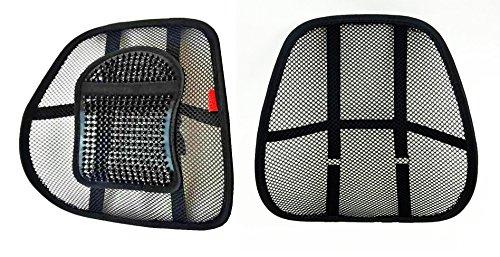 2X LORDOSENSTÜTZE (Marke aLowag) mit Einstellbarer Krümmung!!! 1x mit Noppen - 1x Ohne Noppen Rückenstütze Rückenkissen für Autositz Oder Bürostuhl