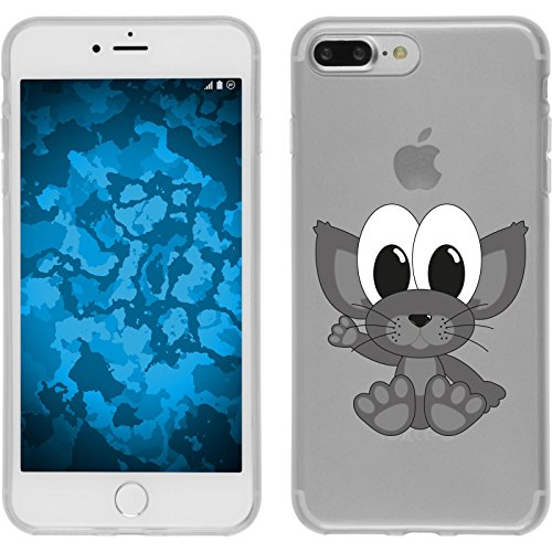 PhoneNatic Case für Apple iPhone 8 Plus Silikon-Hülle Cutiemals M6 Case iPhone 8 Plus Tasche + 2 Schutzfolien Design:05