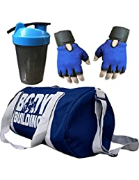 CP Bigbasket Combo Set Polyester 40 Ltrs Black Sport Gym Duffle Bag, Gym Shaker (400 Ml), Netted Gym & Fitness... - B077GXBRHY
