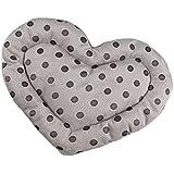 Sharplace 1x Herz förmig Hamstermatte aus Baumwolle, Sanfte Schlafen und Spielen Zusatz für Kleintier - Farbe Wählen - Grau