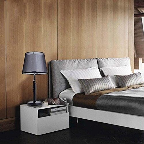 HAIYUANNAN Tischlampe, LED dekorative Tischlampe Schreibtischlampe aus amerikanischem Stoff Wohnzimmer Schlafzimmer (Zugschalter) -