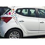 Sticker/Folienaufkleber/Autoaufkleber Set ***Sterne - Komplettdekoration (Ein o. Mehrfarbig) *** - Größen und Farbauswahl