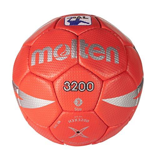 Molten H3X3200 - Balón de balonmano, color rojo, tamaño 3