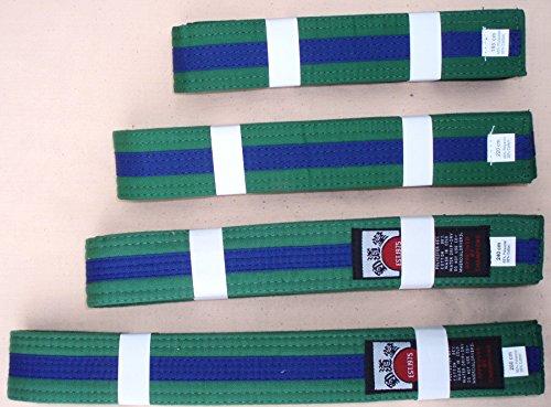 Alle Kampfsportarten Gürtel–Grün mit Blau gestreift (Gürtel Tae Kwon Do)