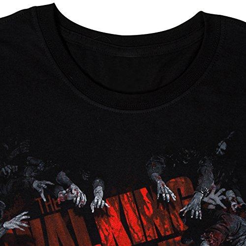 The Walking Dead - Herren T-Shirt - Offizielles Merchandise Schwarz Logo