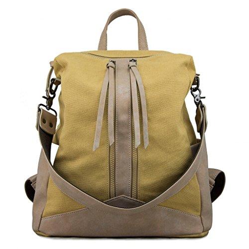Travistar Canvas Damen Rucksack Vintage Daypack Retro Handtasche für Arbeit Schule und Lässige täglich