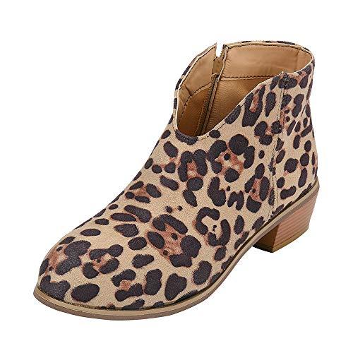 FeiBeauty Retro Frauen Quadrat Ferse Volltonfarbe Wildleder Stiefel Reißverschluss Stiefel Runde Zehenschuhe Schwarz Brown Grau Rot
