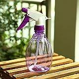 GerTong Leere Sprühflasche für Blumen gießen Salon Desinfektion, 500 ml Kunststoff-Presse Typ Pflanze Bewässerung Sprinkler Kann für Hausgarten-Hotel (lila)